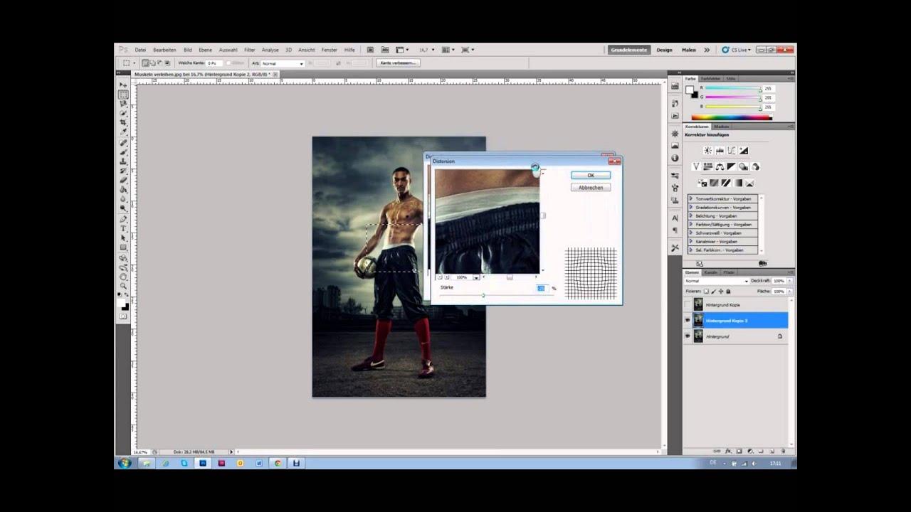 Photoshop so easy - den oberkörper muskulöser machen - YouTube