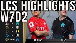 LCS Highlights ALL GAMES Week 7 Day 2 Spring 2020 League of Legends Championship Series