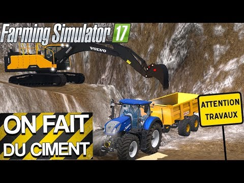 ON FAIT DU CIMENT ! Du TP sur La Vieille Mine ! Farming Simulator 17