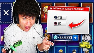 DELETING BROTHERS *NEW* $1000 FORTNITE SKIN (PRANK)