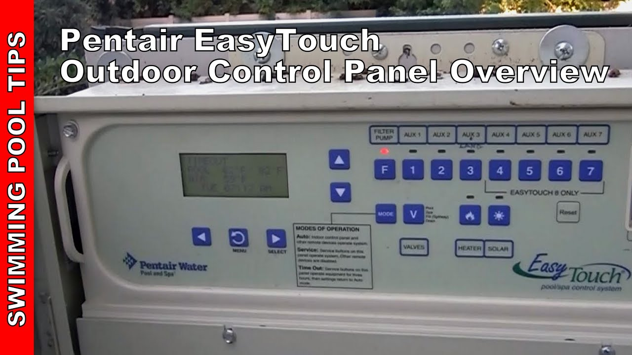 easytouch pool and spa control outdoor panel overview youtube rh youtube com Pentair IntelliTouch Pool Control Panel Spa Controls