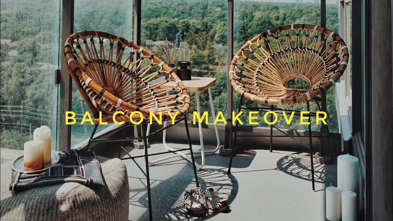small balcony makeover - renter friendly!