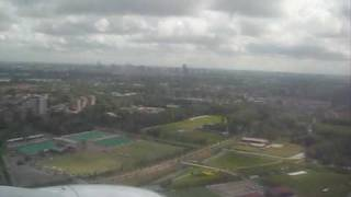 Landing on Rotterdam Airport, The Netherlands (08-07-2009)