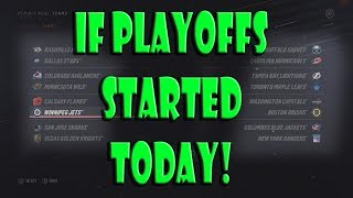What if The Stanley Cup Playoffs Started TODAY?? NHL 19