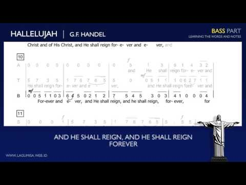 Hallelujah Chorus (G.F. Handel) - BASS Part ( Not Angka )