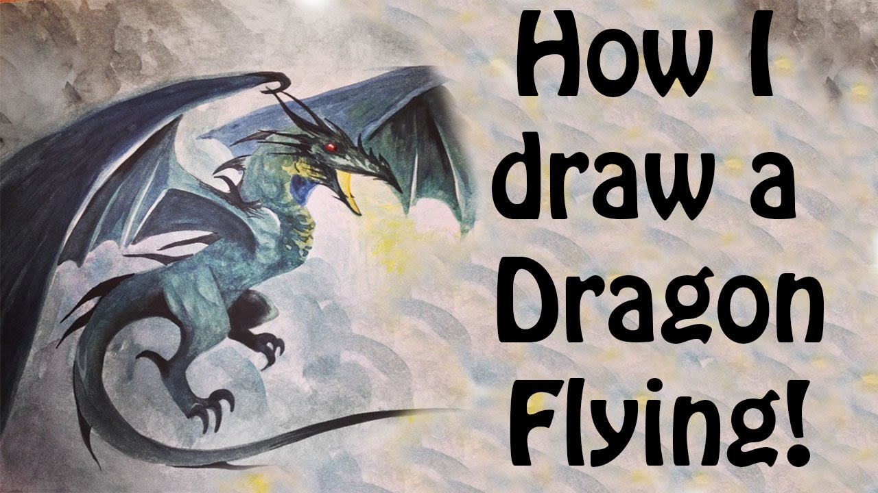 How i draw a dragon flying youtube ccuart Choice Image