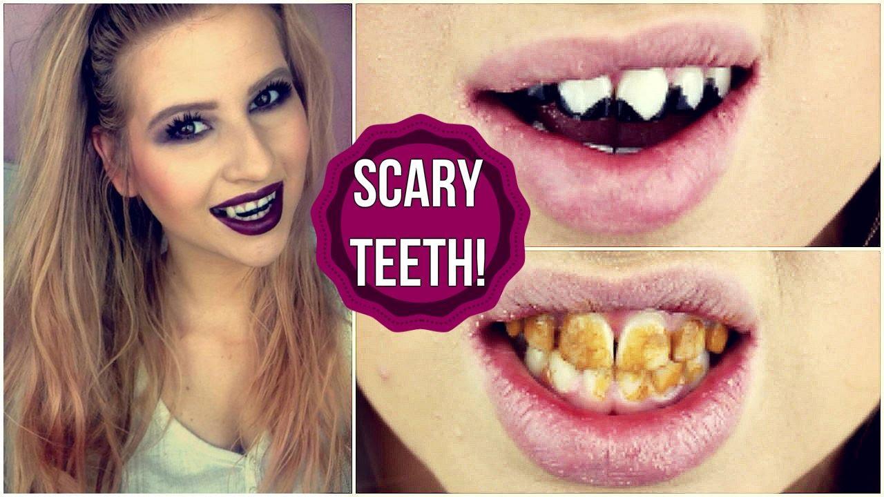 Diy Scary Halloween Teeth Vampire Zombie Cat Youtube