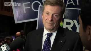 ProudTOvote - John Tory scrums with media on gay issues