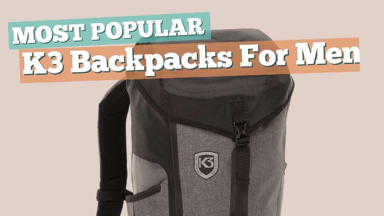 K3 Backpacks For Men    Most Popular 2017 - YouTube 8e020ff39b18f