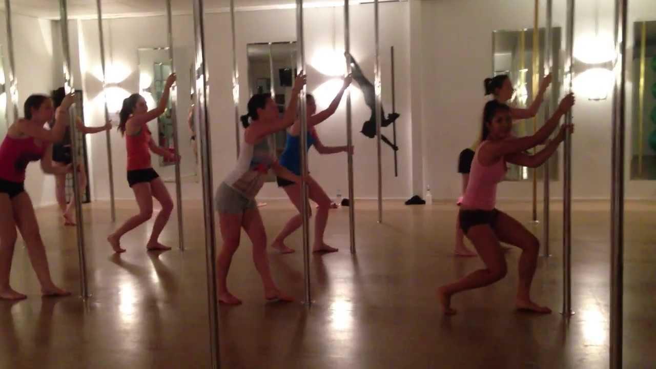 Beginner Pole Dancing Routine - YouTube