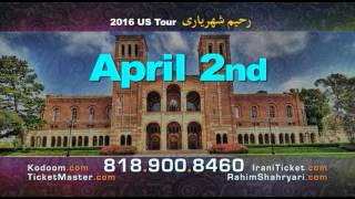 Rahim Shahryari North American Tour 2016: Azerbaijani Iranian Music Concerts