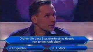 Prof. Schmaus bei Millionenshow