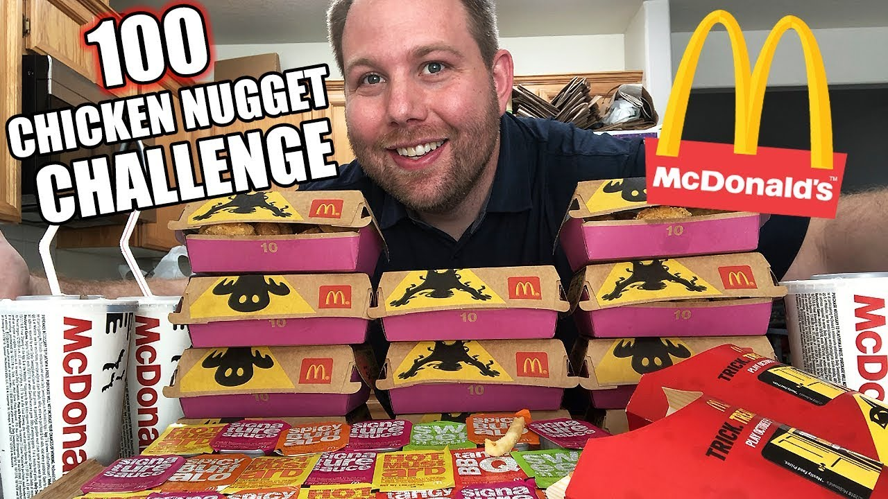 Chicken Nugget Challenge 100 Mcdonalds Chicken Nuggets How Many Can You Eat Auzsome Austin