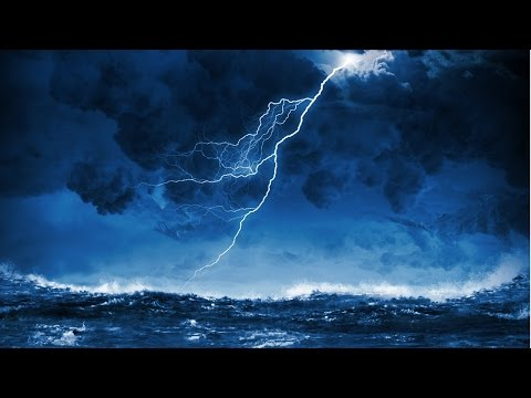 Ocean Thunderstorm Sound with Rain, Thunders, Seagulls, Shiphorns, Howling Wind