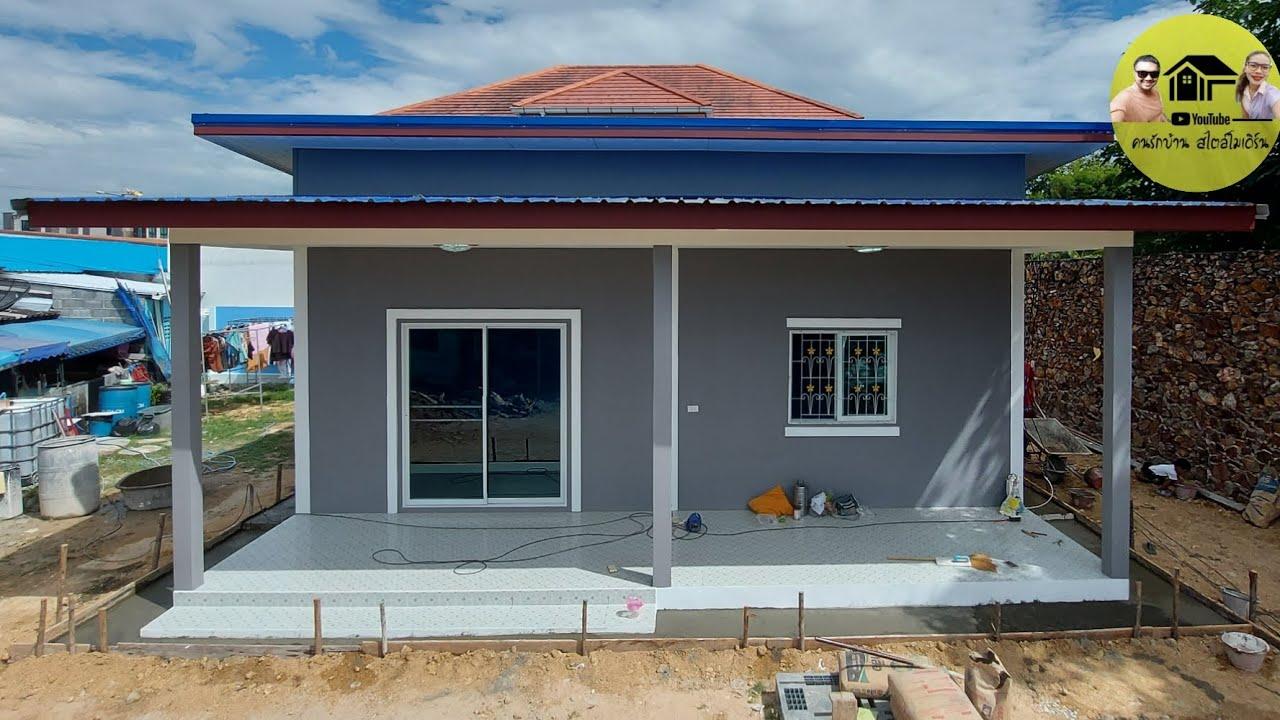 Modern house|บ้านโมเดิร์นสวยๆในพื้นที่80ตรม.2ห้องนอน1ห้องน้ำ สีเทาสวยงามทั้งอำเภอ