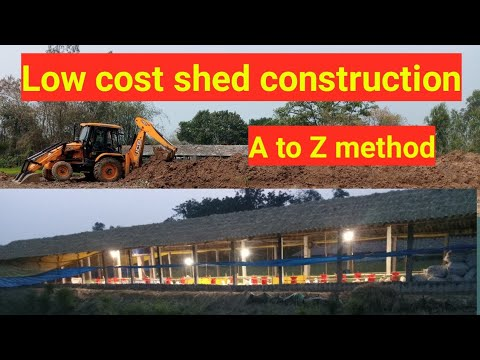 Low Cost Shed Construction,A To Z Method For New Poultry Farmer