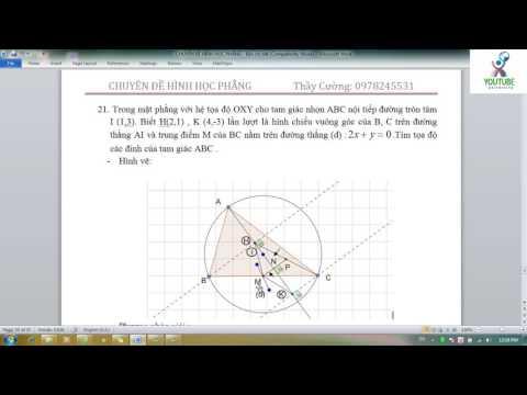 Chuyên đề hình học phẳng OXY   Bài 7