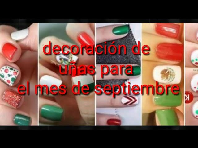 Hermosas Decoraciones de uñas para el mes septiembre | mujer tips.