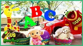LEARN ABC LETTERS and Alphabets education for children at the Playground Park thumbnail
