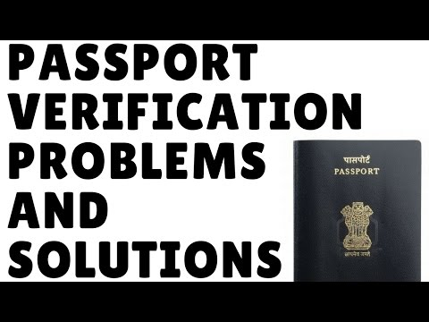 PASSPORT VERIFICATION ISSUE : Adverse report for your Current Address