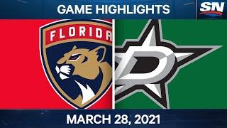 NHL Game Highlights | Panthers Vs. Stars - Mar. 28, 2021