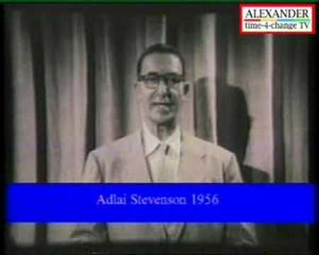 US Democrats - Adlai Stevenson 1956 Video 2