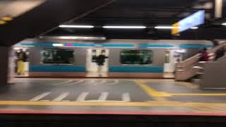 JR東日本185系快速ムーンライトながら東京行き車窓 横浜→東京①