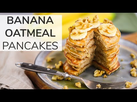 Renee - Easy Morning Blender Banana Oatmeal Pancakes!