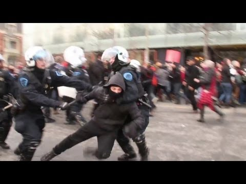 Montreal intense riots: