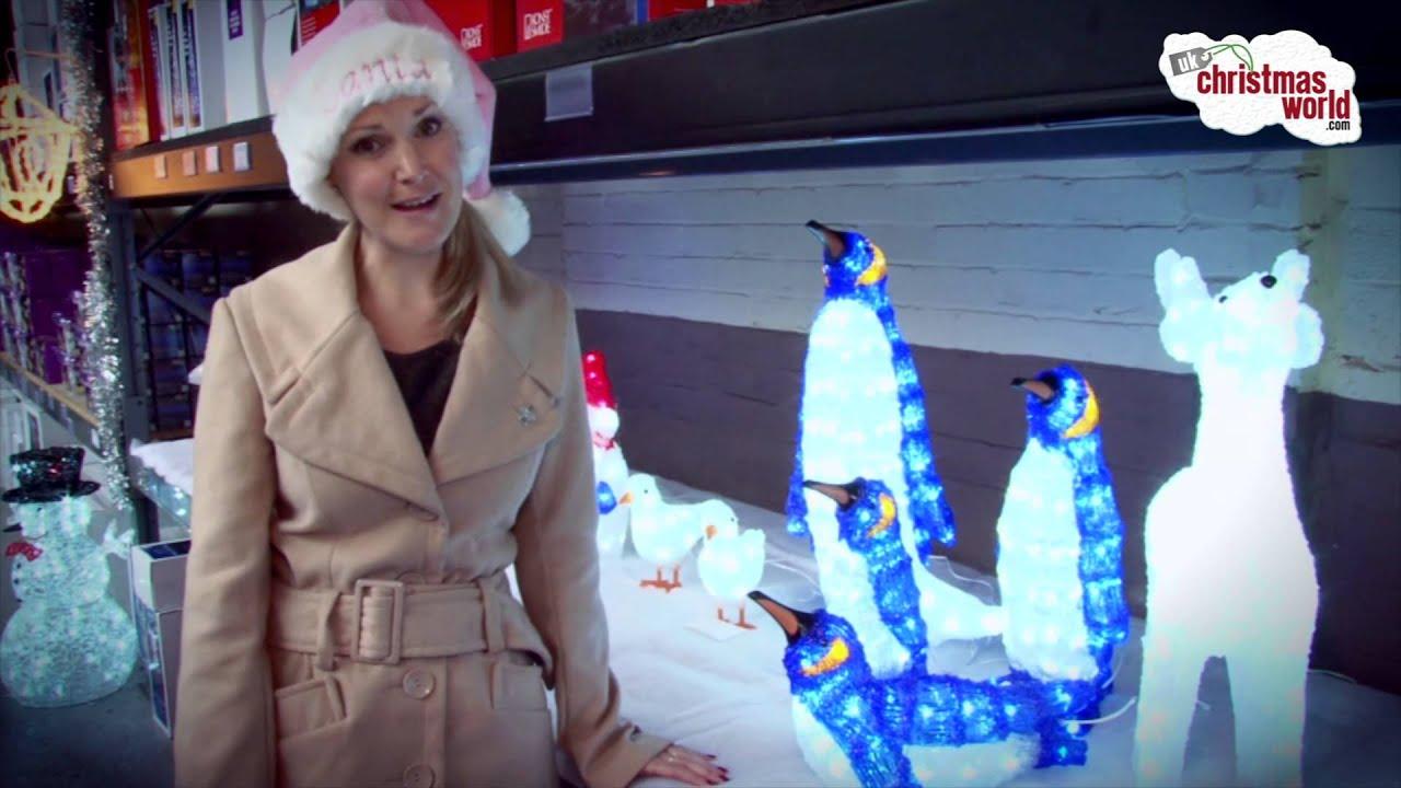 New acrylic led christmas figures outdoor led christmas for Outside christmas figures