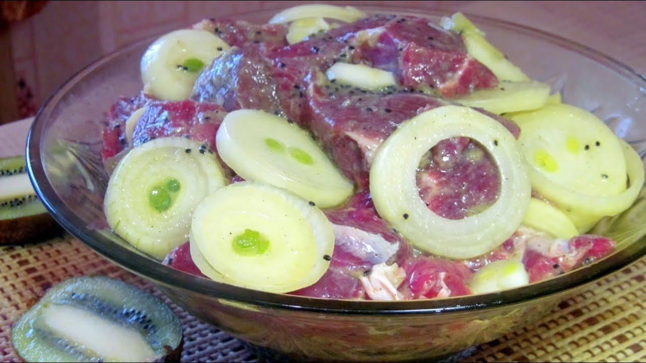 Маринад для шашлыка из свинины с киви рецепт пошагово 11