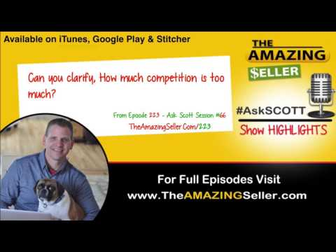Can you clarify about how much competition is too much? TAS 223 - Ask Scott - The Amazing Seller