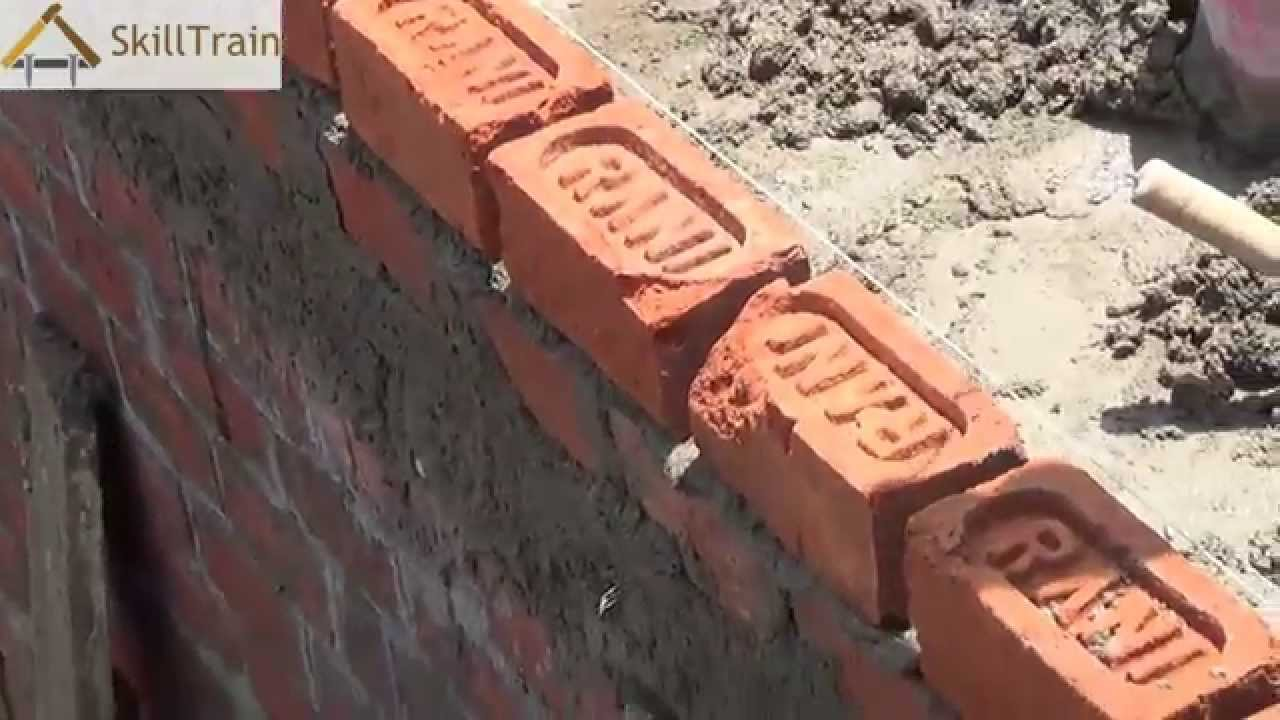 Constructing A Half Brick 4 Inches Wall Hindi हिन्दी