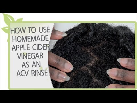 How to use homemade apple cider vinegar as an ACV RINSE | NATURAL HAIR