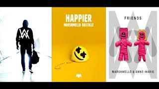 Friends | Happier | Faded [Remix Mashup] - Marshmello, Bastille & Anne Marie x Alan Walker