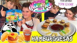 YUMMY NUMMIES Comida en miniatura * Mini hamburguesas POPIN COOKIN