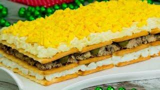 Порадует гостей! Праздничный, закусочный торт - очень красиво, вкусно и несложно. | Appetitno.TV