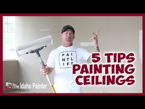 HOW TO paint ceilings FAST and like a professional PAINTER