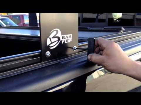 bakflip cs folding tonneau cover and rack combination