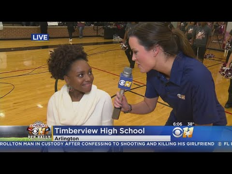 CBS 11 Pep Rally: Mansfield Timberview High School Students Capture Behind-The-Scenes Look
