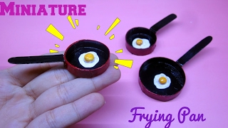 DIY Miniature Frying Pan & Eggs / Hướng dẫn làm chảo và trứng chiên cho búp bê / Ami DIY