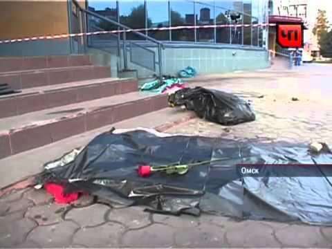 Видео аварии в Омске у клуба Эгоист. 12.10.2012 дтп
