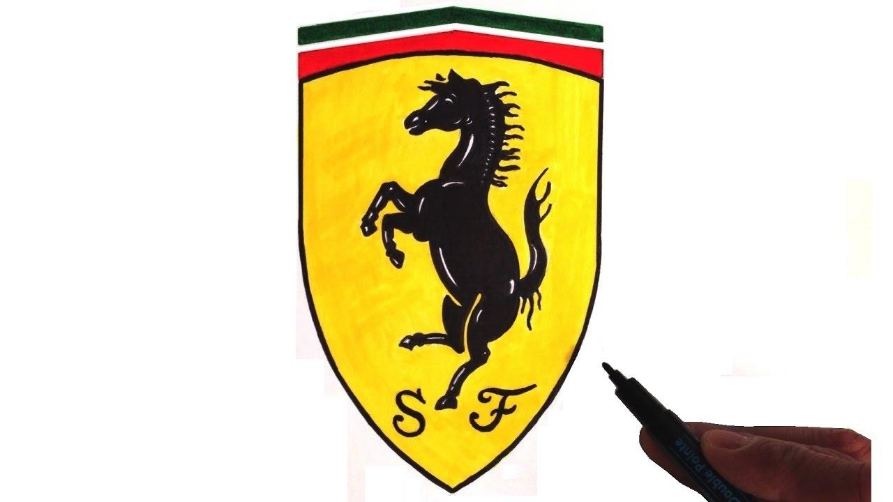 How To Draw The Ferrari Logo Youtube