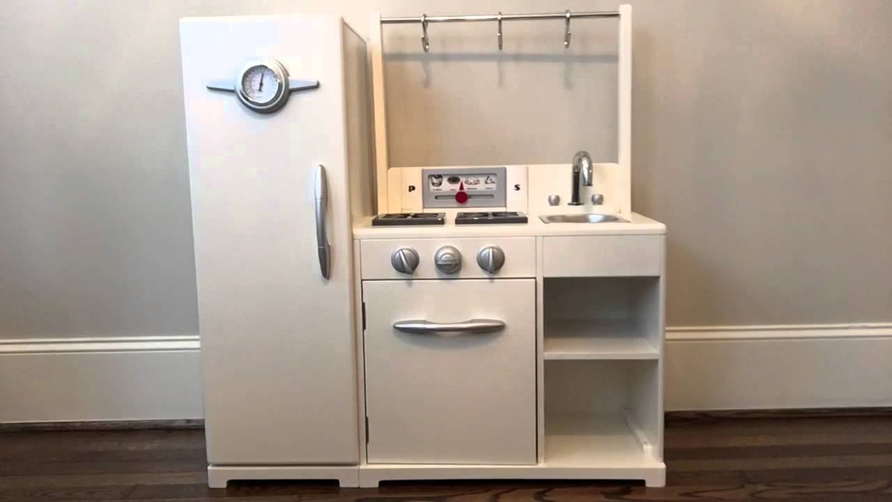 Pottery Barn Kids All-in-1 Retro Kitchen Review Part 1 - YouTube