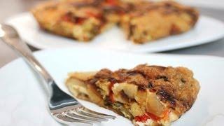 Recette de la tortilla espagnole poivron oignons safran