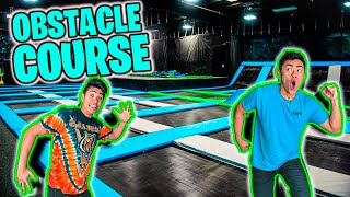 Download Ninja Warrior OBSTACLE COURSE *Trampoline Park* Mp3 and Videos