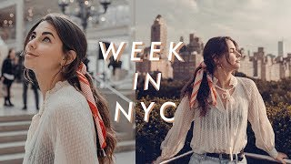 a week in my life in nyc