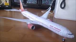 Making Papercraft Boeing777-300ER
