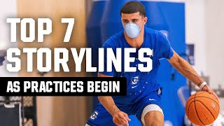 Ncaa.com's andy katz breaks down seven things to look out for on the first official day of college basketball practices, set oct. 14. this includes p...