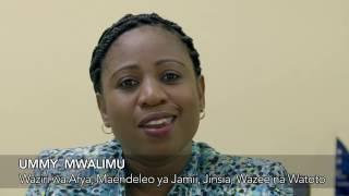 Ummy Ally Mwalimu (MP) Waziri wa Afya, Maendeleo ya Jamii, Jinsia, Wazee na Watoto